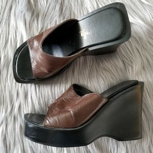 Cinderella of Boston Leather Mules Size 2.5M